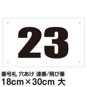 看板 駐車場 番号札 30cm×18cm|kanbanshop