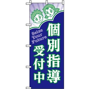 塾向け のぼり旗 「 個別指導受付中 」 kanbanshop