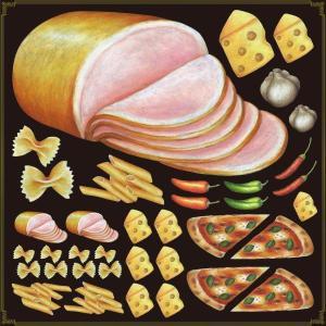 シール ハム チーズレストラン 装飾 デコレーション チョークアート 窓 黒板 看板 ステッカー(最低購入数量3枚〜)|kanbanshop