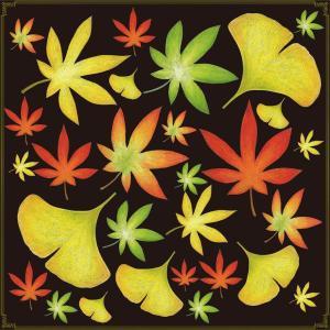 シール 紅葉 イチョウ落ち葉 装飾 デコレーションシール チョークアート 窓ガラス 黒板 看板 POP ステッカー 用|kanbanshop