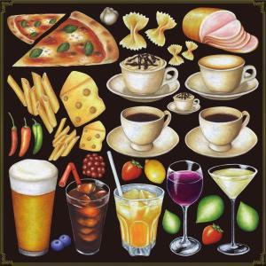 シール ビール酒 ピザドリンク 装飾 デコレーション チョークアート 窓 黒板 看板 ステッカー(最低購入数量3枚〜)|kanbanshop