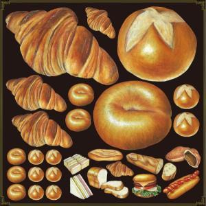 シール ピザとシーフード 野菜 装飾 デコレーション チョークアート 窓 黒板 看板 ステッカー(最低購入数量3枚〜)|kanbanshop