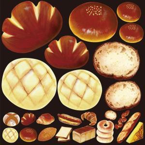 シール クリームパン メロンパン 装飾 デコレーションシール チョークアート 窓ガラス 黒板 看板 POP ステッカー 用|kanbanshop