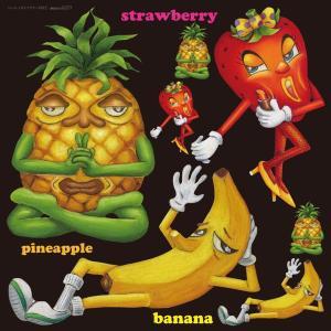 シール パイナップル バナナ 果物 装飾 デコレーション チョークアート 窓 黒板 看板 ステッカー(最低購入数量3枚〜)|kanbanshop