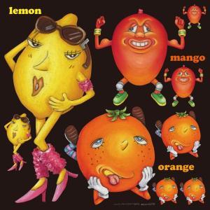 シール レモン オレンジ 果物 装飾 デコレーション チョークアート 窓 黒板 看板 ステッカー(最低購入数量3枚〜)|kanbanshop