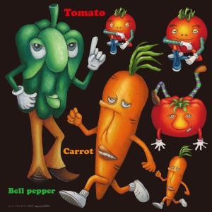 シール ピーマン ニンジン 野菜 装飾 デコレーション チョークアート 窓 黒板 看板 ステッカー(最低購入数量3枚〜)|kanbanshop