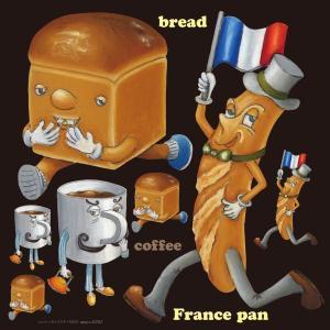 シール 食パン フランスパン 装飾 デコレーション チョークアート 窓 黒板 看板 ステッカー(最低購入数量3枚〜)|kanbanshop