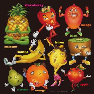 シール パイナップル レモン いちご 果物 装飾 デコレーション チョークアート 窓 黒板 看板 ステッカー(最低購入数量3枚〜)|kanbanshop