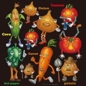 シール コーン 玉ねぎ 野菜 装飾 デコレーション チョークアート 窓 黒板 看板 ステッカー(最低購入数量3枚〜)|kanbanshop