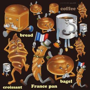 シール 食パン フランスパン コーヒー 装飾 デコレーション チョークアート 窓 黒板 看板 ステッカー(最低購入数量3枚〜)|kanbanshop