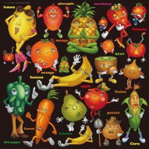 シール レモン オレンジ バナナ 果物 装飾 デコレーション チョークアート 窓 黒板 看板 ステッカー(最低購入数量3枚〜)|kanbanshop