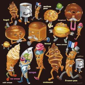 シール 食パン ベーグル フランスパン 装飾 デコレーション チョークアート 窓 黒板 看板 ステッカー【最低購入数量3枚〜】|kanbanshop
