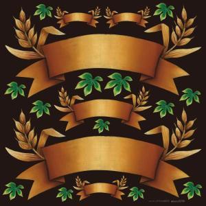 シール 無地 りぼん風 茶色 装飾 デコレーション チョークアート 窓 黒板 看板 ステッカー(最低購入数量3枚〜)|kanbanshop