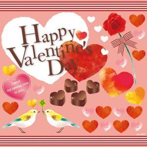 シール バレンタイン チョコレート 小鳥 ハートマーク 薔薇 装飾 デコレーション チョークアート 窓 黒板 看板 ステッカー(最低購入数量3枚〜)|kanbanshop