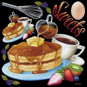 シール 洋食カフェ パンケーキ ホットケーキ 泡だて器 卵 珈琲 装飾 デコレーションシール チョークアート 窓ガラス 黒板 看板 POP ステッカー 用|kanbanshop