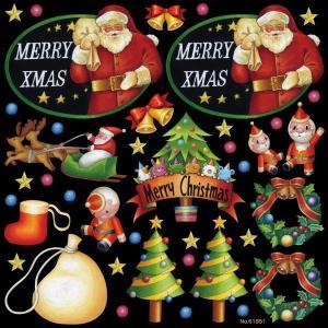 シール クリスマス サンタクロース おもちゃ リース トナカイ 装飾 デコレーションシール チョークアート 窓ガラス 黒板 看板 POP ステッカー 用|kanbanshop
