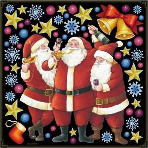 シール サンタ サンタクロース ピザ クリスマス 星 ベル Xmas 装飾 デコレーションシール チョークアート 窓ガラス 黒板 看板 POP ステッカー 用|kanbanshop