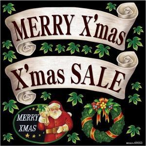 シール サンタクロース merry Xmas sale クリスマス セール リース 装飾 デコレーションシール チョークアート 窓ガラス 黒板 看板 POP ステッカー 用|kanbanshop