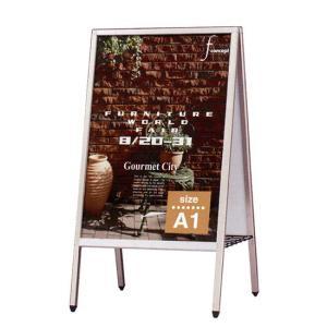 A1 サイズ 立て看板 無地 アルミサイン スタンド看板 A型 ポスター 看板 店舗用|kanbanshop