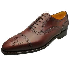 Berwick バーウィック 靴 メンズ ビジネスシューズ セミブローグ 2107 ダークブラウン 本革|kanda-mimatsu