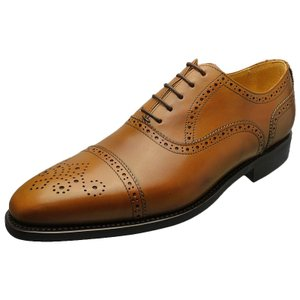 Berwick バーウィック 靴 メンズ ビジネスシューズ セミブローグ ダイナイトソール 2107 タン 本革|kanda-mimatsu