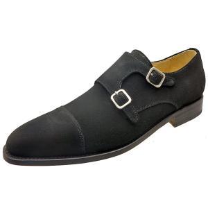 Berwick バーウィック 靴 メンズ ビジネスシューズ ダブルモンクストラップ 3268 ブラックスエード 本革|kanda-mimatsu