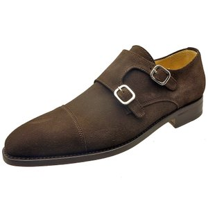 Berwick バーウィック 靴 メンズ ビジネスシューズ ダブルモンクストラップ 3268 ダークブラウンスエード 本革|kanda-mimatsu