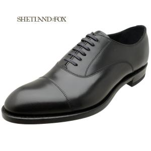 SHETLAND FOX シェットランド フォックス コベントリー ストレートチップ 002FSF ブラック 本革 靴 メンズ ビジネスシューズ|kanda-mimatsu