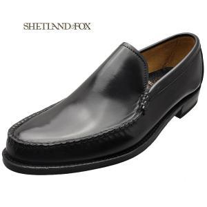 SHETLAND FOX シェットランド フォックス ペンシルバニア ヴァンプ 026FSF ブラック 本革 靴 メンズ ビジネスシューズ|kanda-mimatsu