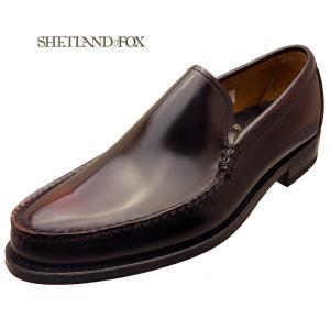 SHETLAND FOX シェットランド フォックス ペンシルバニア ヴァンプ 026FSF ワイン 本革 靴 メンズ ビジネスシューズ|kanda-mimatsu
