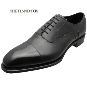 SHETLAND FOX シェットランド フォックス バーミンガム ストレートチップ 041FSF ブラック 本革 靴 メンズ ビジネスシューズ|kanda-mimatsu
