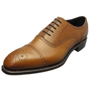 SHETLAND FOX シェットランド フォックス バーミンガム セミブローグ 042FSF ブラウン 本革 靴 メンズ ビジネスシューズ|kanda-mimatsu