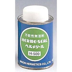 日本ヘルメチックス ヘルメシール H-500 300g ハケ付缶入 (灰色) 無溶剤型ステンレス配管用シール剤|kandakiko