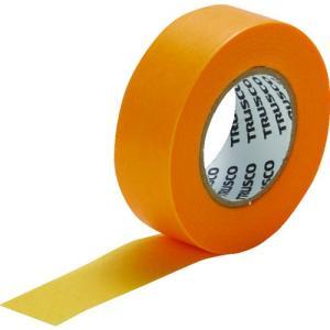 TRUSCO 建築塗装用マスキングテープ 幅12mm長さ18m 10巻入 イエロー kandakiko