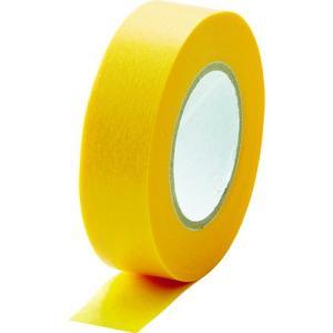 TRUSCO 建築塗装用マスキングテープ 幅15mm長さ18m 8巻入 イエロー kandakiko