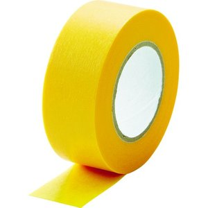 TRUSCO 建築塗装用マスキングテープ 幅20mm長さ18m 6巻入 イエロー kandakiko