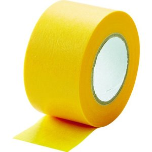 TRUSCO 建築塗装用マスキングテープ 幅30mm長さ18m 4巻入 イエロー kandakiko