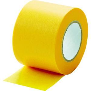TRUSCO 建築塗装用マスキングテープ 幅40mm長さ18m 3巻入 イエロー kandakiko