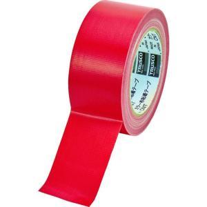 TRUSCO カラー布粘着テープ 幅50mm長さ25m レッド kandakiko