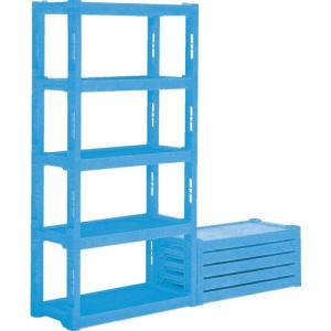 サンコー プラスチック棚ーL4 青|kandakiko