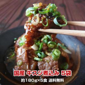 送料無料 国産牛スジ煮込み5食セット 180gパック×5食|kande-pro