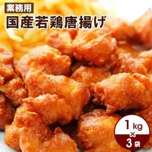 送料無料 業務用 大盛り 国産若鶏唐揚げ 約1kgパック×3袋|kande-pro