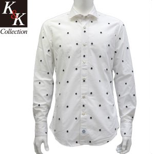 【SALE】ハイドロゲン HYDROGEN シャツ メンズ スカル柄 ホワイト新作正規品|kandkcollection