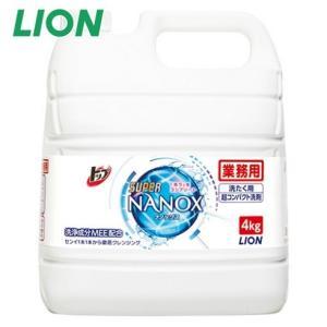 トップ スーパーナノックス SUPER NANOX 4kg ライオン 詰め替え用 業務用 液体洗剤の商品画像|ナビ