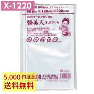 真空袋 ナイロンポリ 彊美人 X-1220 (100枚入) 80μ×120×200mm クリロン化成...