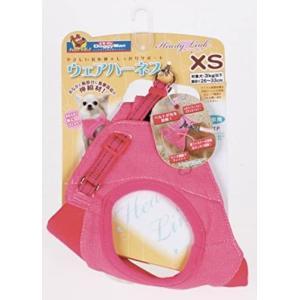 犬 ハーネス ウェア デニム XS ピンク HL8005 犬 おしゃれ 脱げない 簡単 装着 ペット ドッグ 犬具 胴輪 散歩 お出かけ 通気性 ブランド ドギーマン|kanedasyoten