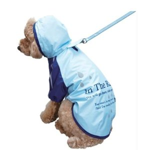 犬 カッパ レイン コート 雨 パーカー S ブルー ペット 服 ドッグ ウェア レインコート 雨具 フード 付き 四足 防水 お散歩 梅雨 対策 着脱 簡単 ドギーマン|kanedasyoten