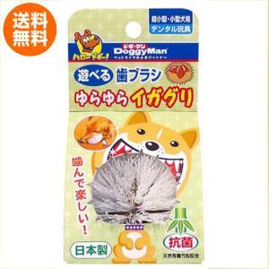 犬 おもちゃ 遊べる 歯ブラシ ゆらゆら イガグリ デンタル玩具 超小型 小型犬 用 日本製 抗菌 マッサージ 汚れを落とす ドギーマン|kanedasyoten