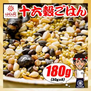 はくばく 十六穀ごはん 180g(30gx6袋) 雑穀 お試し ポイント|kanekokome
