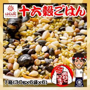 はくばく おいしさ味わう 十六穀ごはん 1箱(30gx6袋x6) 雑穀米|kanekokome